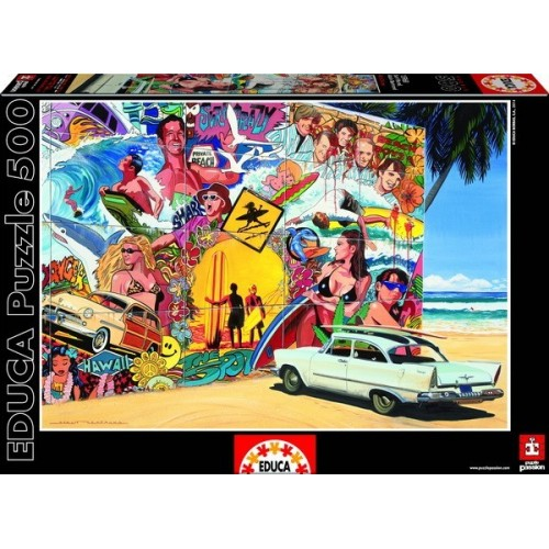 Surf Mural, Educa Puzzle 500 pcs