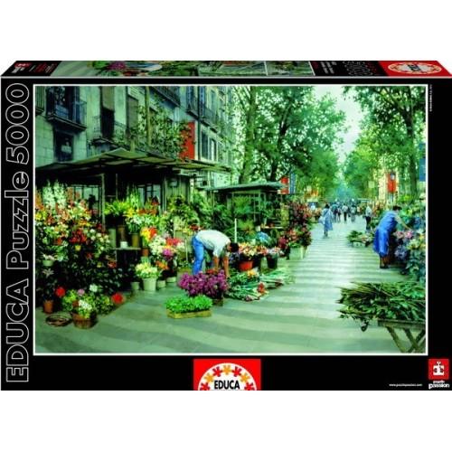 Las Ramblas - Barcelona, Educa puzzle kirakó 5000 db