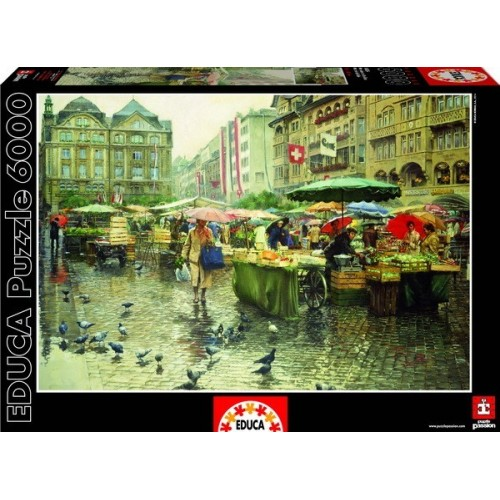 Produce Market - Basel, Educa Puzzle 6000 pc