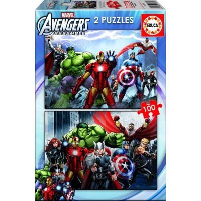 AVENGERS, Educa puzzle 2x100 pc