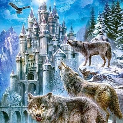 Wolves and Castle, Castorland puzzle 1500 pc