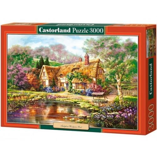 Alkonyat az erdei tónál, Castorland puzzle 3000 db