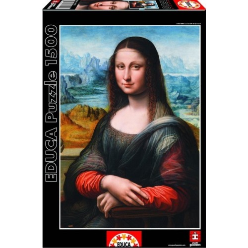 Mona Lisa - Leonardo da Vinci, Educa Puzzle 1500 db