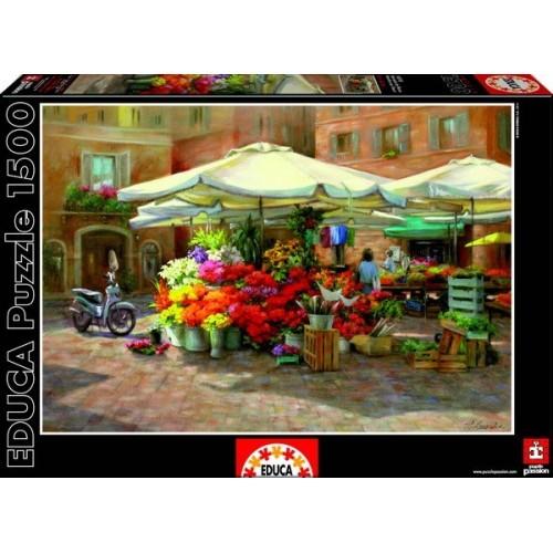 Virágok a piactéren, Educa Puzzle 1500 darabos képkirakó