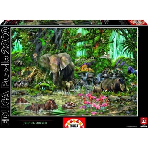 Afrikai dzsungel, Educa Puzzle 2000 darabos képkirakó