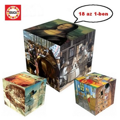 WORKS OF ART - Magnetic Puzzle Cube, 18 images