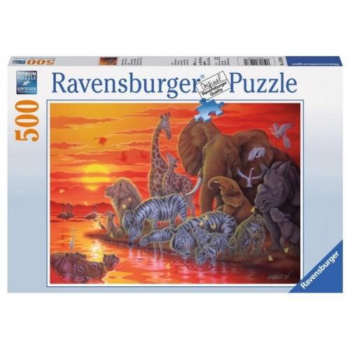 Afrikai naplemente, Ravensburger Puzzle 500 darabos képkirakó