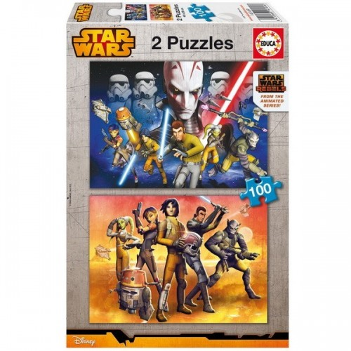 Star Wars - Lázadók, Educa puzzle, 2x100db