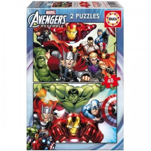 Bosszúállók - Avengers, Marvel, Educa Puzzle 2x48 db