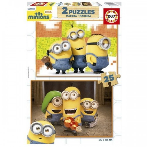 Minions, Educa wooden puzzle 2x25 pc