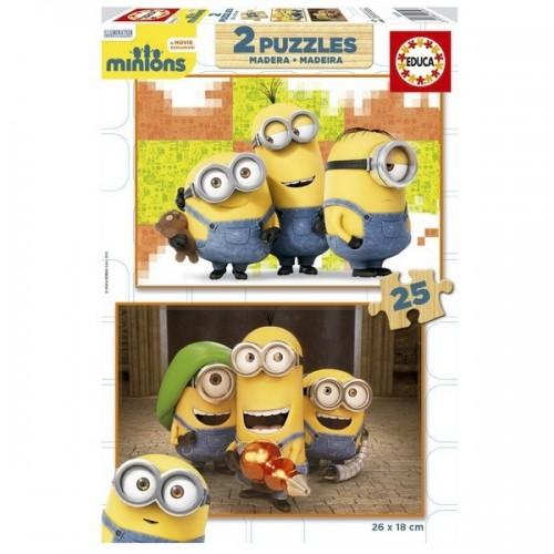 Minions, Educa wooden puzzle 2x25 pc
