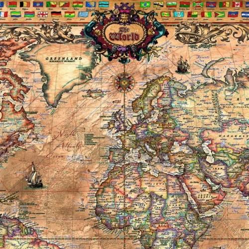 ANTIQUE WORLD MAP, Educa Puzzle 1000 pc