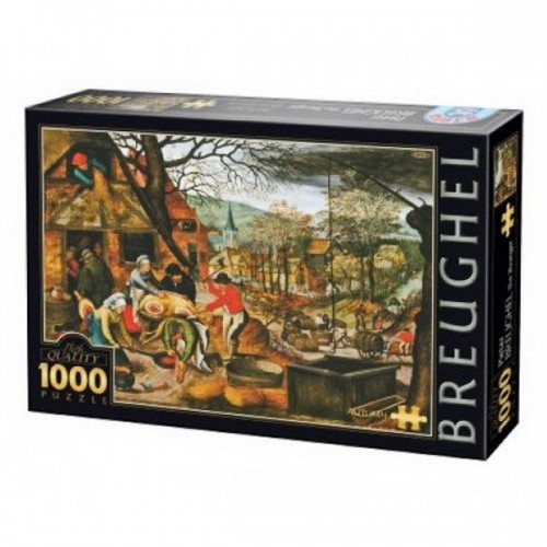 Ősz - Pieter Breughel, D-Toys puzzle 1000 db