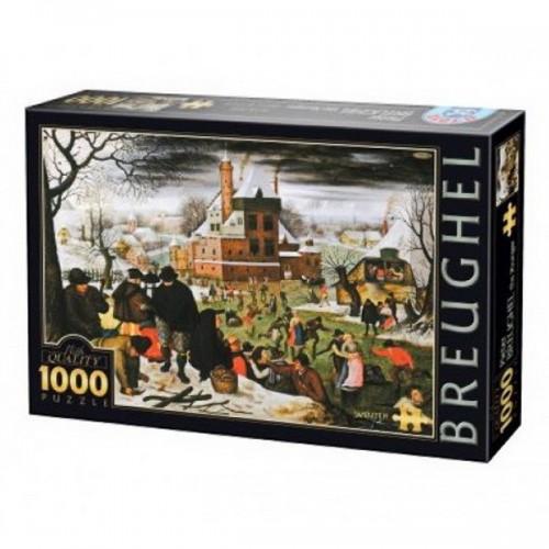 Winter - Pieter Brueghel, D-Toys puzzle 1000 pc