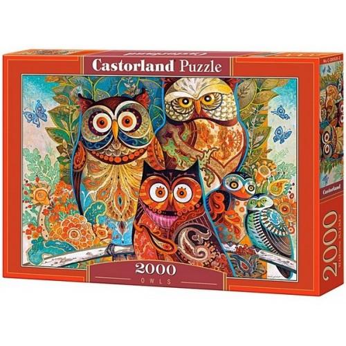 Baglyok - David Galchutt, Castorland puzzle 2000 db
