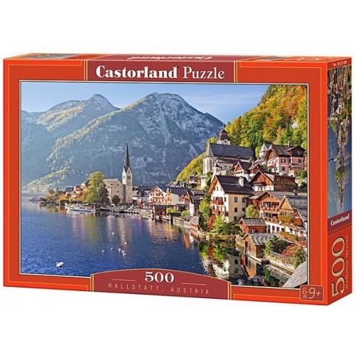 Hallstatt - Ausztria, 500 darabos Castorland Puzzle