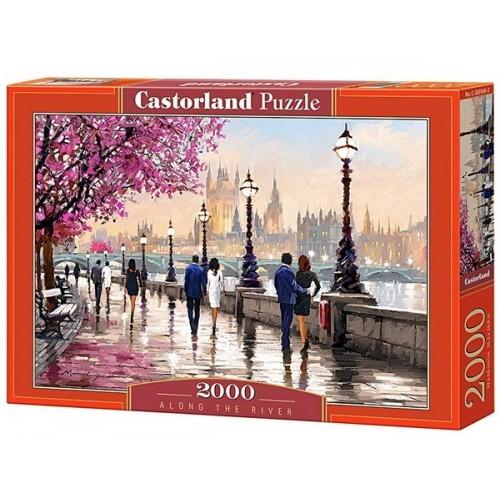 Folyóparti séta - Richard Macneil, Castorland puzzle 2000 db