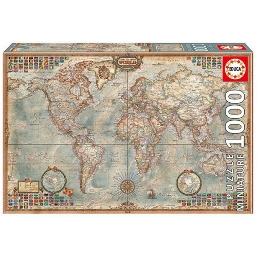Political Map of the World, Educa Mini Puzzle 1000 pc