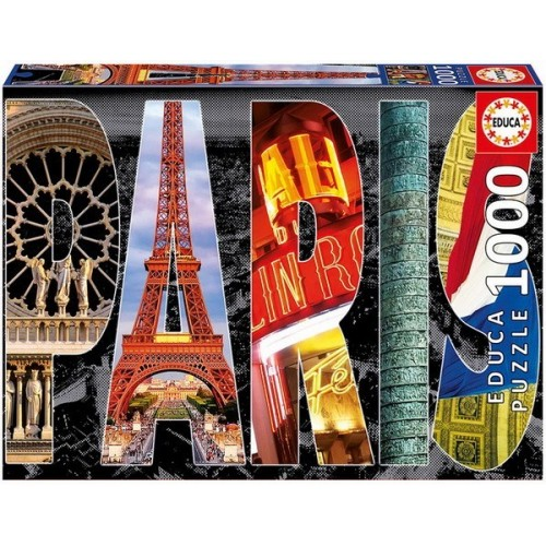 Paris - Collage, Educa Puzzle 1000 pc