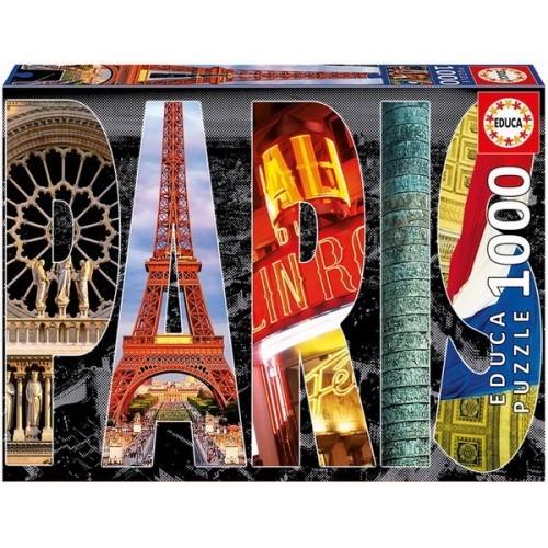 Párizs - Kollázs, Educa Puzzle kirakó 1000 db