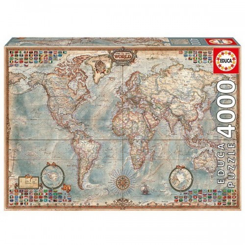 THE WORLD - EXECUTIVE MAP, Educa puzzle 4000 pc