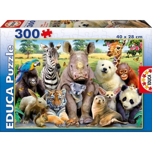Állatiskolai Osztálykép, Educa puzzle 300 darabos képkirakó