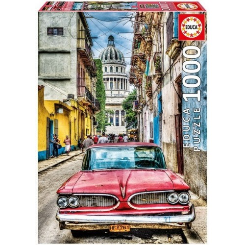 Vintage Car in Old Havana, Educa Puzzle 1000 pc