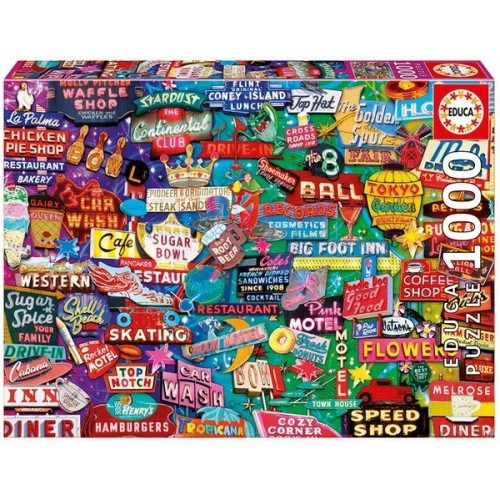 Retro Neon Dream, Educa Puzzle 1000 pc