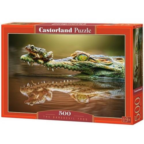 Béka fenegyerek, 500 darabos Castorland puzzle
