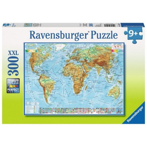 Map of the World, Ravensburger Puzzle 300 pcs XXL