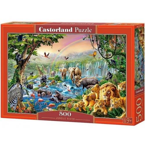 Folyó a dzsungelben, 500 darabos Castorland puzzle