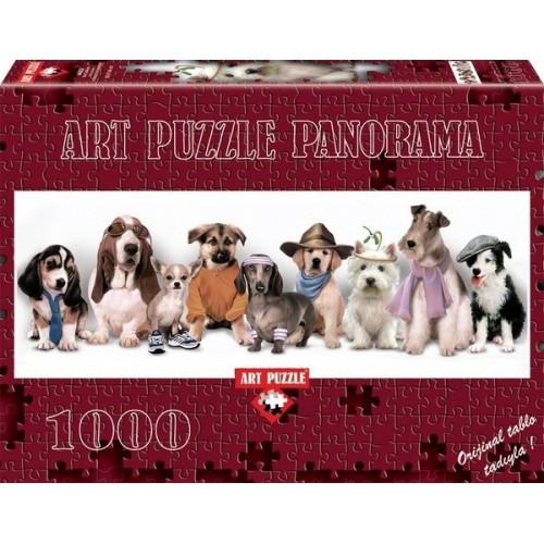 Kutya jelmezbál, ART PUZZLE 1000 darabos képkirakó