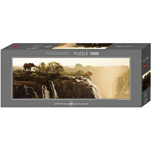 Elephant, Heye - Edition Humboldt panorama puzzle, 1000 pc