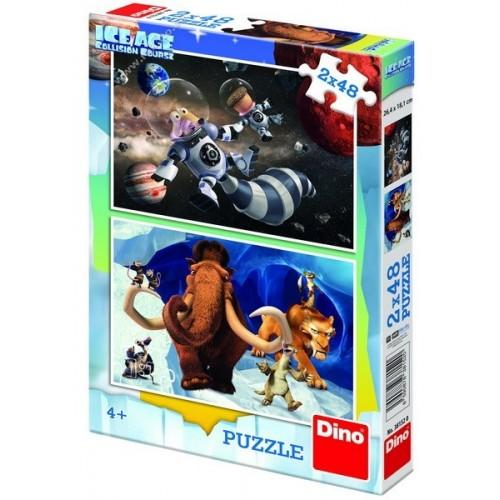 Jégkorszak 5 - Hősök, 2x48 darabos Dino puzzle