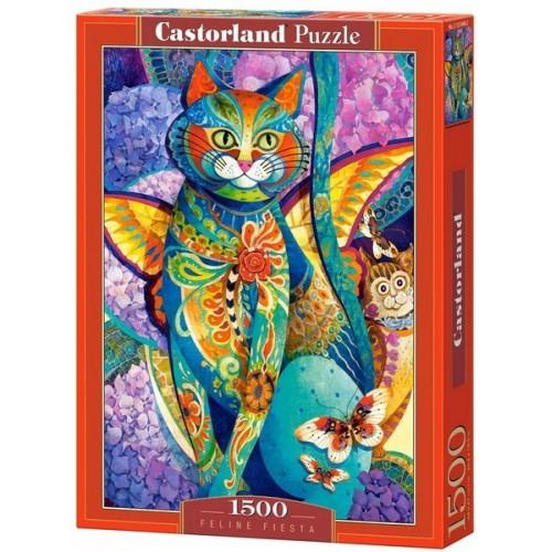 Macska fieszta - David Galchutt, Castorland puzzle 1500 db