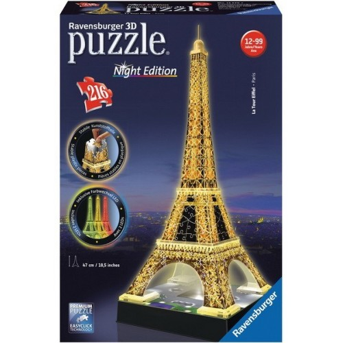 Eiffel Tower - Night edition, Ravensburger 3D puzzle