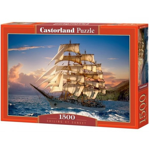 Sailing At Sunset, Castorland puzzle 1500 pc