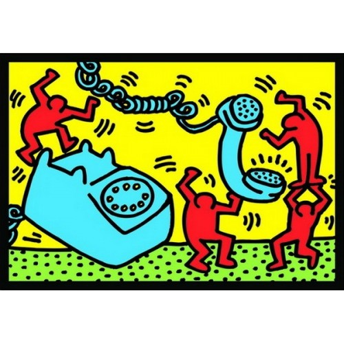 Telefon - Keith Haring, Educa Puzzle 500 db