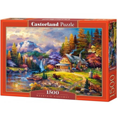 Mountain Hideaway - James Lee, Castorland puzzle 1500 pc