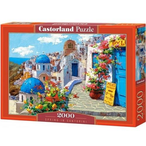 Spring in Santorini, Castorland puzzle 2000 pc