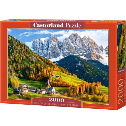 Church of St. Magdalena, Dolomites, Castorland puzzle 2000 pc