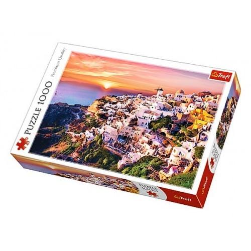 Santorini naplementében - 1000 darabos Trefl puzzle
