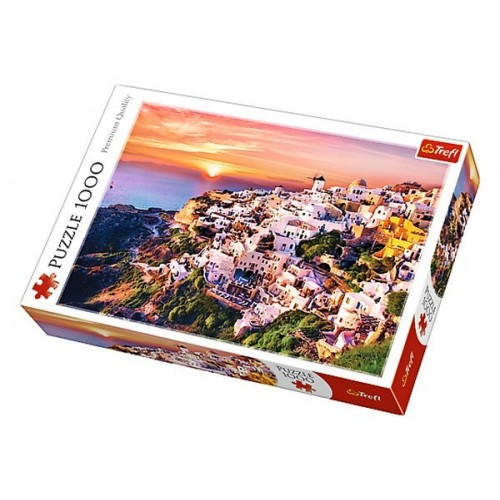 Sunset over Santorini, Trefl Puzzle, 1000 pcs