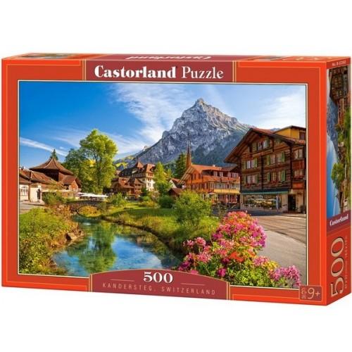 Kandersteg - Svájc, 500 darabos Castorland puzzle