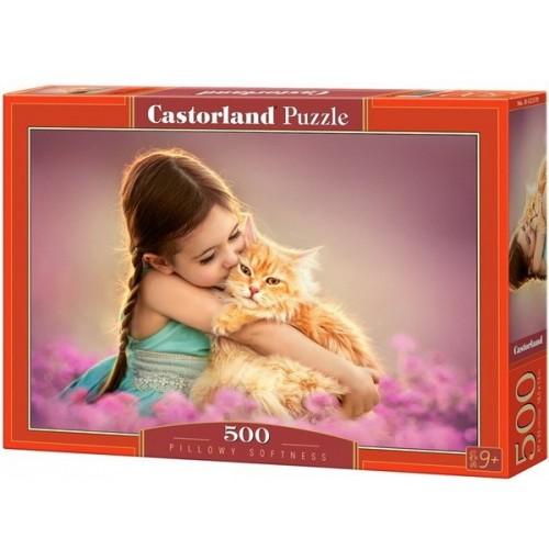 Pihe-puha cica , 500 darabos Castorland puzzle