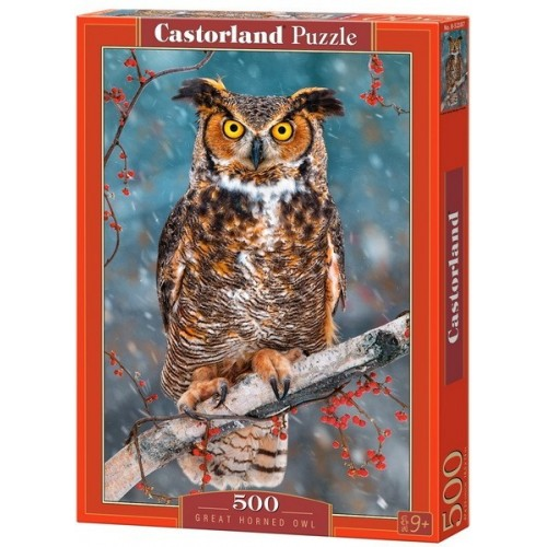 Great Horned Owl, Castorland Puzzle 500 pcs