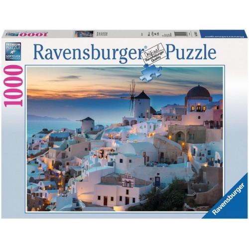 Santorini - Görögország, Ravensburger Puzzle, kirakó 1000 db