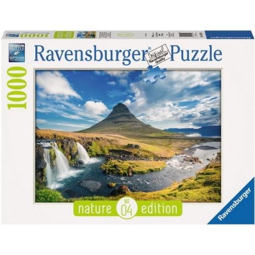 Kirkjufell vízesés - Izland, Ravensburger Puzzle 1000 db