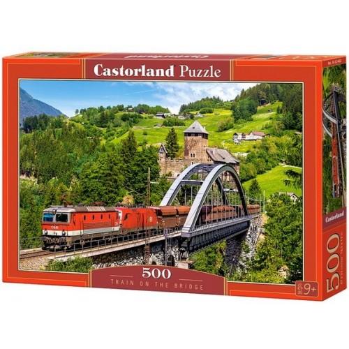 Vonat a hídon, 500 darabos Castorland puzzle