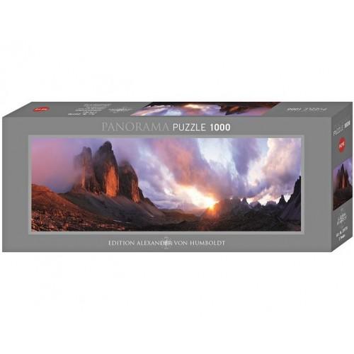 3 Peaks, Heye - Edition Humboldt panorama puzzle, 1000 pc